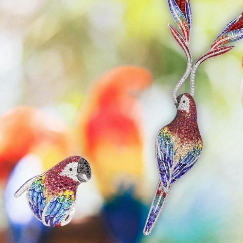 Pierścionek SICIS Arara papuga