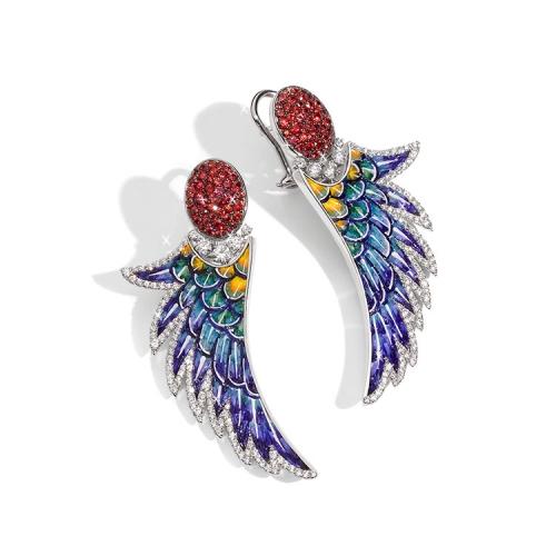 Kolczyki SICIS Arara skrzydła papugi
