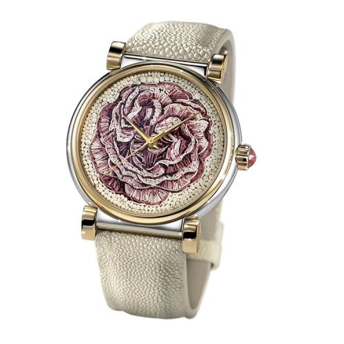 Zegarek złoty SICIS róża