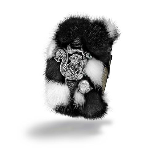 Zegarek SICIS wiewiórka czarno-biała