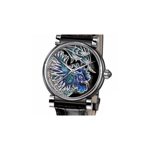Zegarek złoty SICIS kogut niebieski