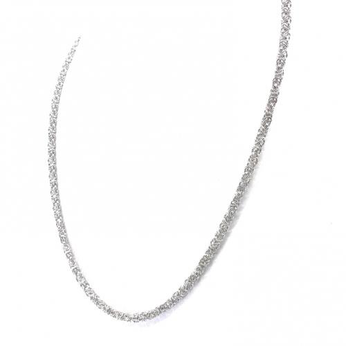 Łańcuszek srebrny królewski