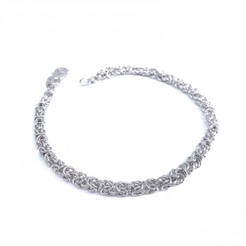 Bransoletka srebrna 925 splot królweski