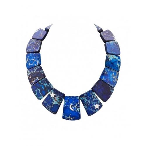 Naszyjnik z niebieskiego sodalitu
