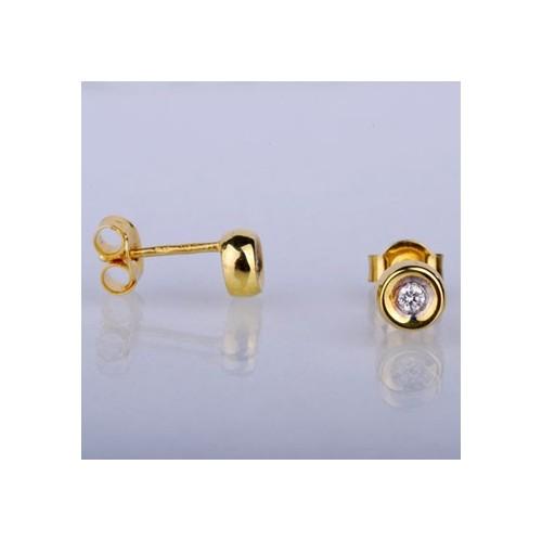 Kolczyki złote z brylantami 0.06ct