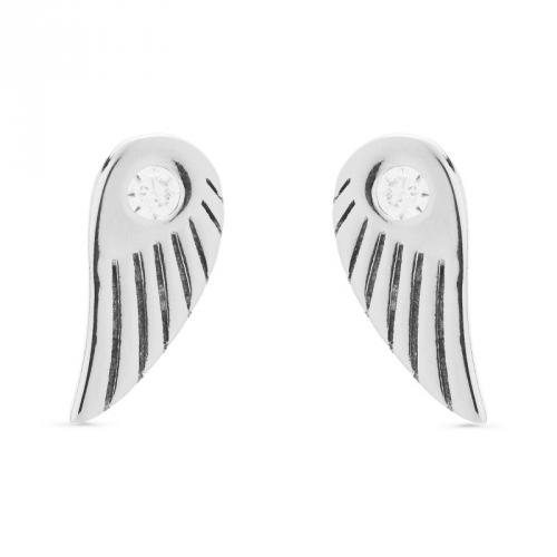 Kolczyki - skrzydła z cyrkonią