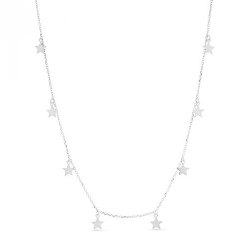Naszyjnik srebrny z gwiazkami