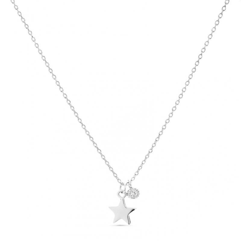 Naszyjnik srebrny z gwiazdką i cyrkonią