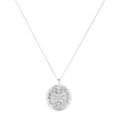 Naszyjnik srebrny z motywem