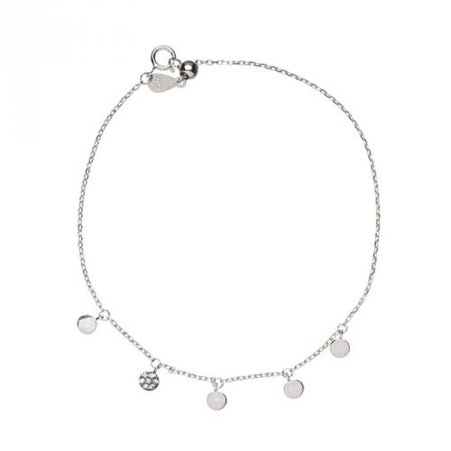Bransoletka srebrna z białymi cyrkoniami