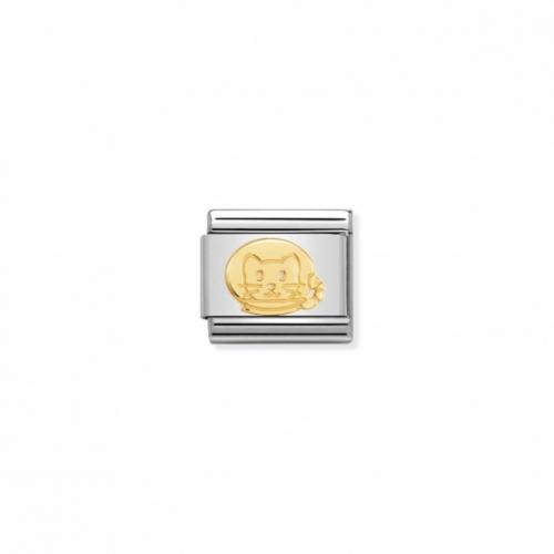 Link NOMINATION kot z 18K złota