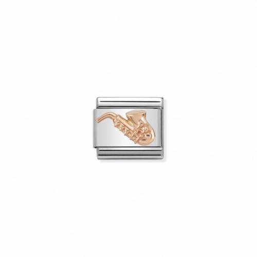 Link NOMINATION saksofon z różowego 9K złota