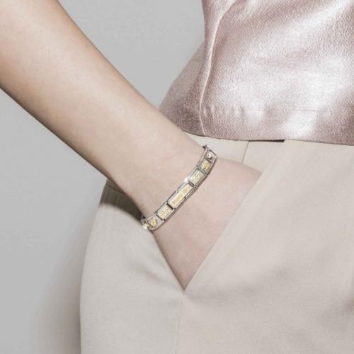 Link NOMINATION różowe baletki z różowego 9K złota