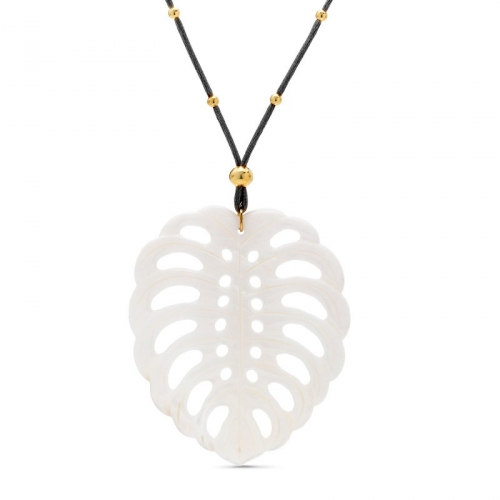 Naszyjnik z masy perłowej liść