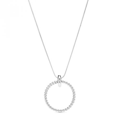 Naszyjnik srebrny z okrągłą zawieszką