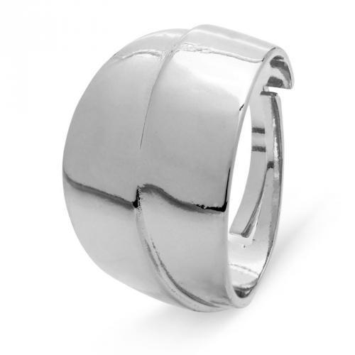 Pierścionek srebrny gładki