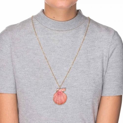 Naszyjnik muszla różowa