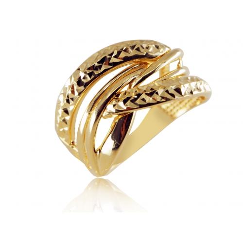 Złoty pierścionek grawerowany