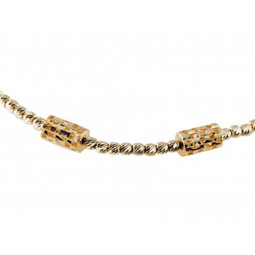 Bransoletka złota diamentowana kuleczki