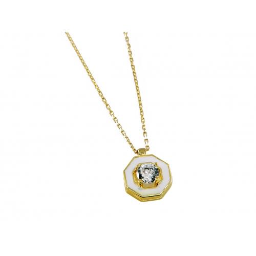 Złoty naszyjnik z cyrkonią