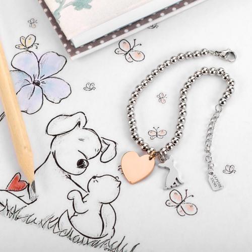 Bransoletka La Petite Story pies i serce