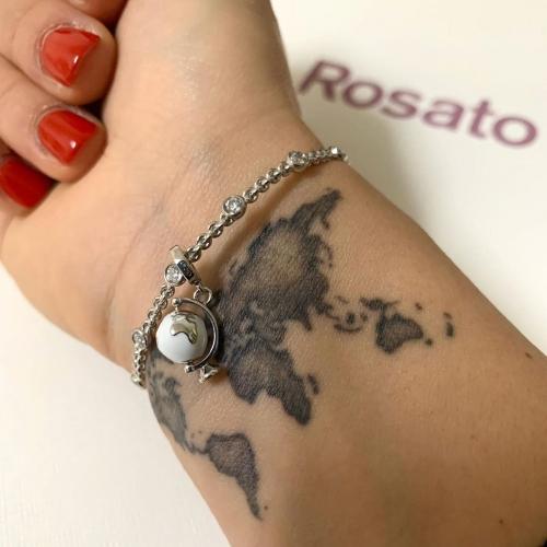 Bransoletka Rosato z czarnymi cyrkoniami