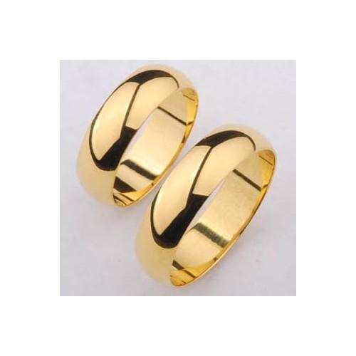Obrączki złote półokrągłe 6mm