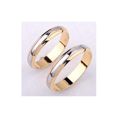 Obrączki złote dwukolorowe 4mm