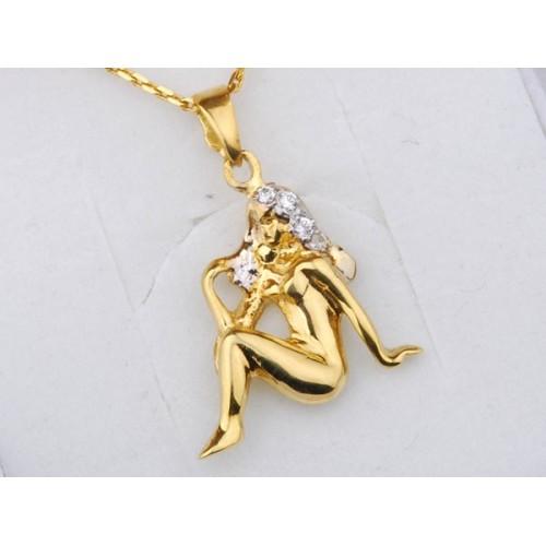 Złoty znak zodiaku PANNA