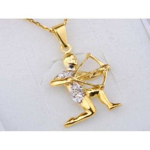 Złoty znak zodiaku STRZELEC