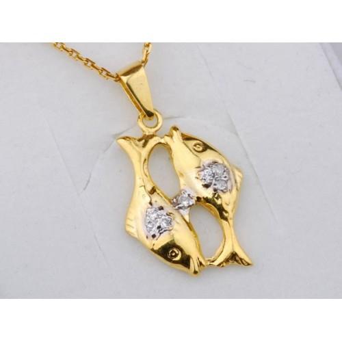 Złoty znak zodiaku RYBY