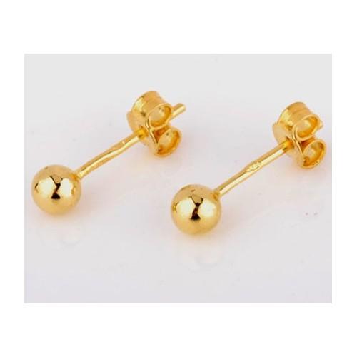 Kolczyki złote Kulki 4mm