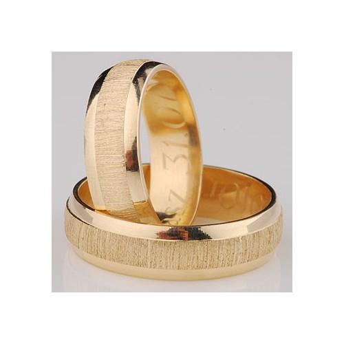 Obrączki złote półokrągłe