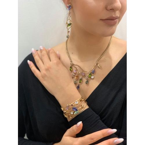 Bransoletka kolorowe kryształy
