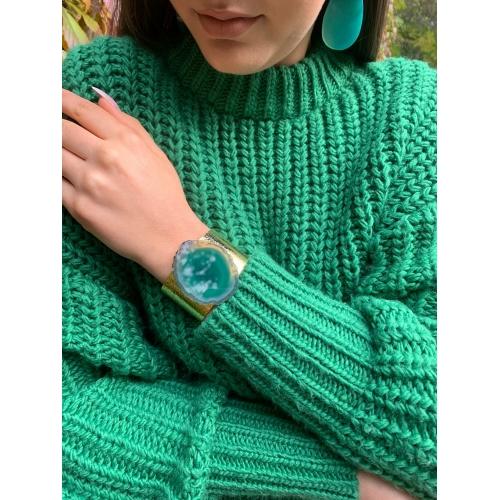Bransoletka z zielonym agatem