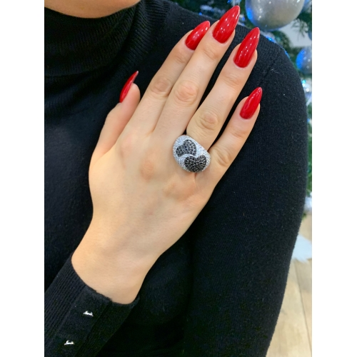 Masywny srebrny pierścionek serca