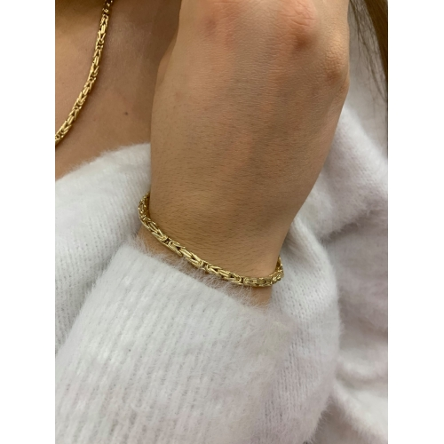 Elegancka złota bransoletka gruby splot
