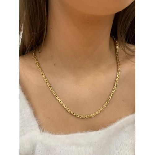 Złoty elegancki naszyjnik gruby splot