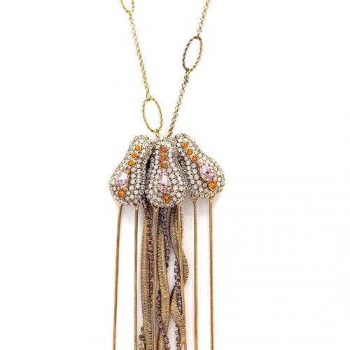 Naszyjnik złocony meduza b