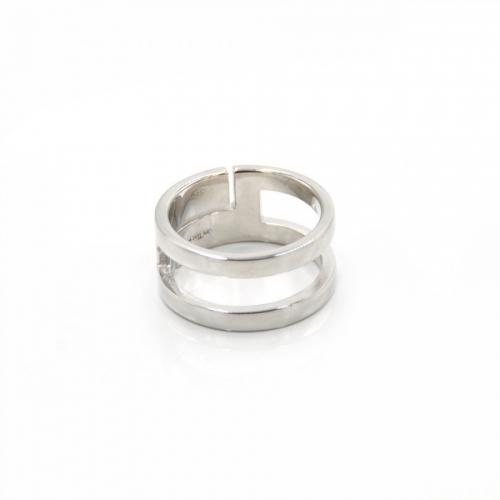 Podwójny srebrny pierścionek Luca Lorenzini
