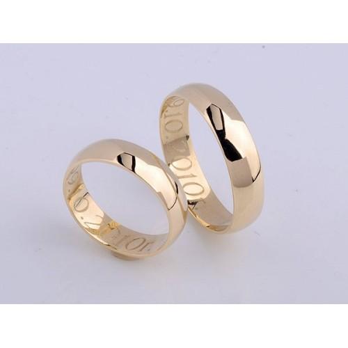 Obrączki ślubne złote półokrągłe 5mm