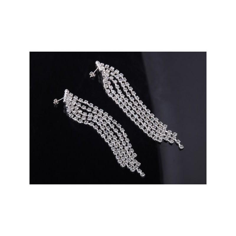Ekskluzywne kolczyki srebrne niesamowici długie