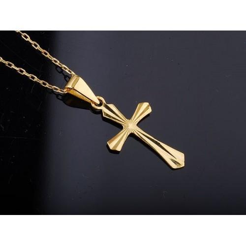 Złoty krzyżyk diamentowany