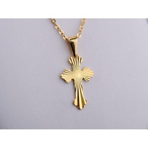 Złoty krzyżyk delikatny