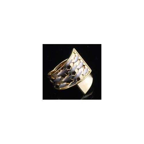Pierścionek złoty Szeroki - niesamowity wzór 333