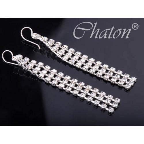 Kolczyki srebrne wiszące - biżuteria slubna
