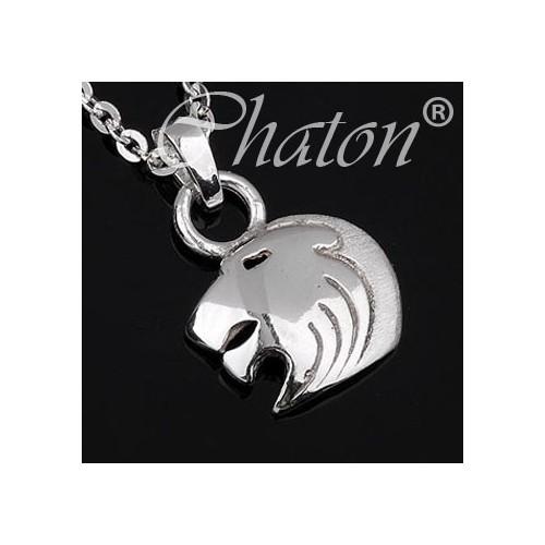 Srebrny wisiorek znak zodiaku LEW
