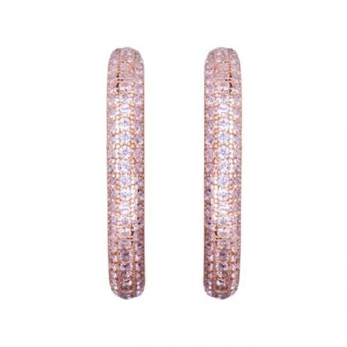 Kolczyki LUXENTER różowe cyrkonie