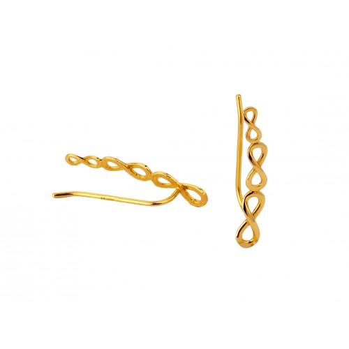 Kolczyki złote NAUSZNICE symbol nieskończoności