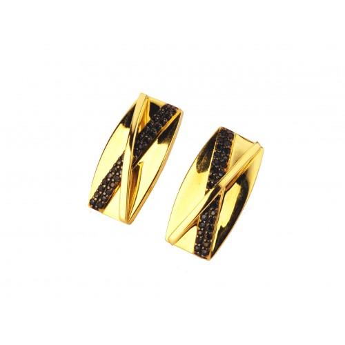 Kolczyki złote Swarovski